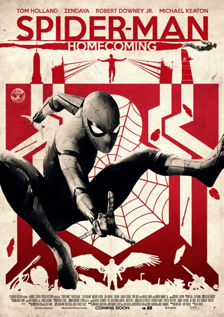 spiderman homecoming poster high quality HD printable wallpapers classi c old style red black and white posters