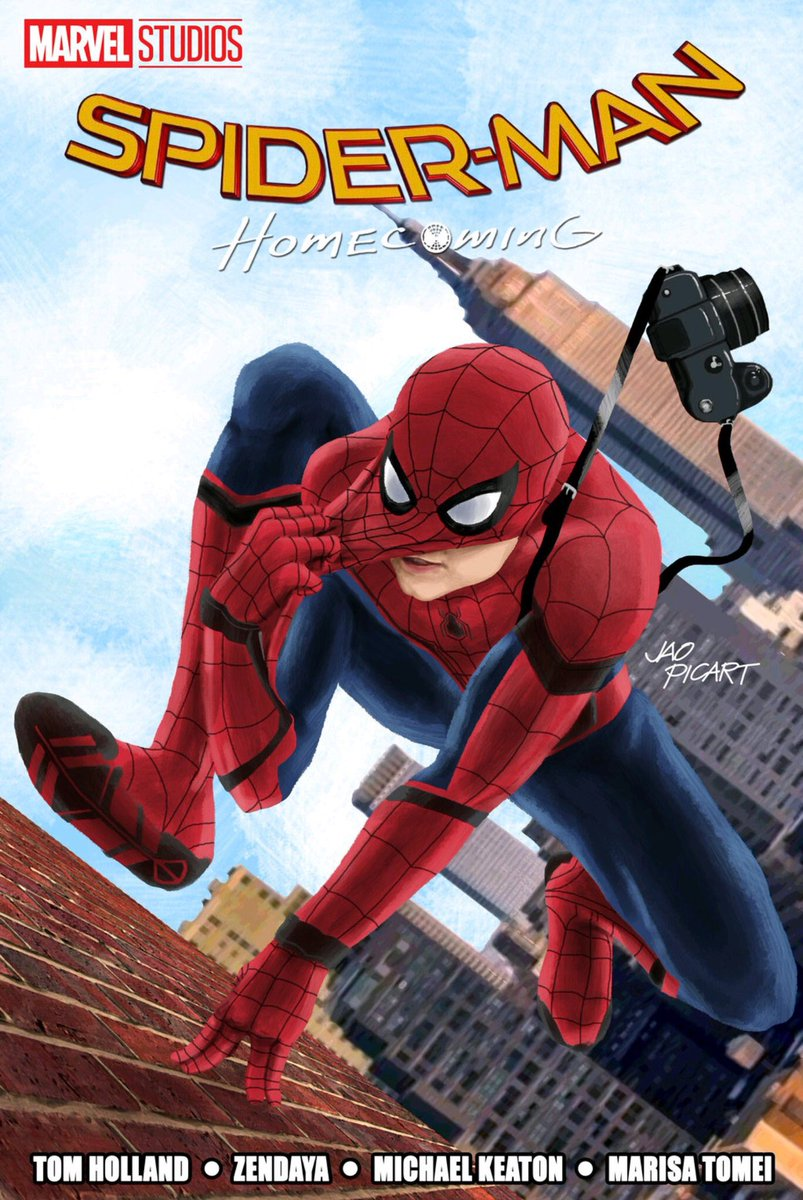 spiderman homecoming poster high quality HD printable wallpapers animated art peter parker reporter style