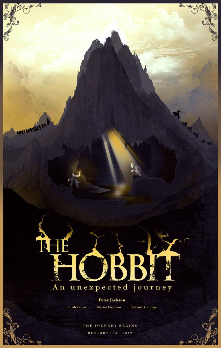 the hobbit an unexpected journey 2012 high quality HD printable wallpapers poster bilbo baggins in the cave goblins mountain with gollum