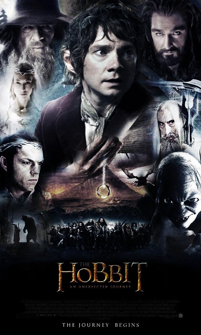 the hobbit an unexpected journey 2012 high quality HD printable wallpapers poster all characters gollum bilbo baggins