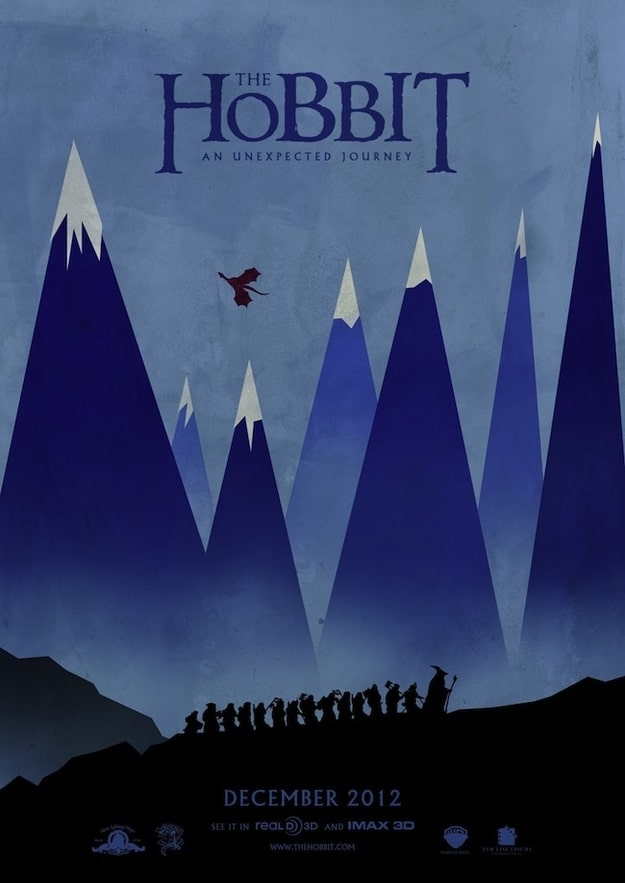 the hobbit an unexpected journey 2012 high quality HD printable wallpapers blue mountains poster art animated cartoon
