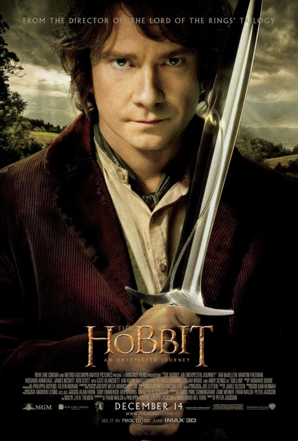 the hobbit an unexpected journey 2012 high quality HD printable wallpapers official poster bilbo baggins sword