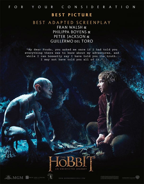 the hobbit an unexpected journey 2012 high quality HD printable wallpapers poster bilbo baggins first meet with gollum