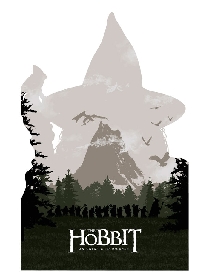 the hobbit an unexpected journey 2012 high quality HD printable wallpapers poster gandalf the company all characters shadow art animated cartoon