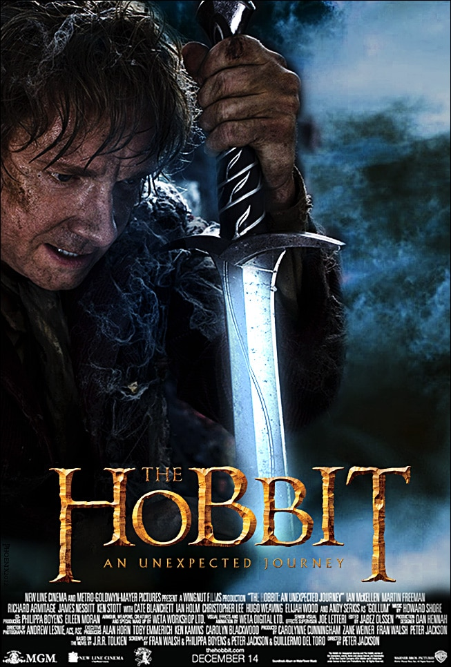 the hobbit an unexpected journey 2012 high quality HD printable wallpapers poster bilbo baggins sword