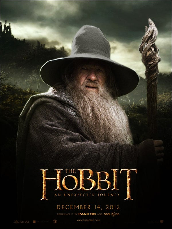 the hobbit an unexpected journey 2012 high quality HD printable wallpapers poster gandalf ian mckellen
