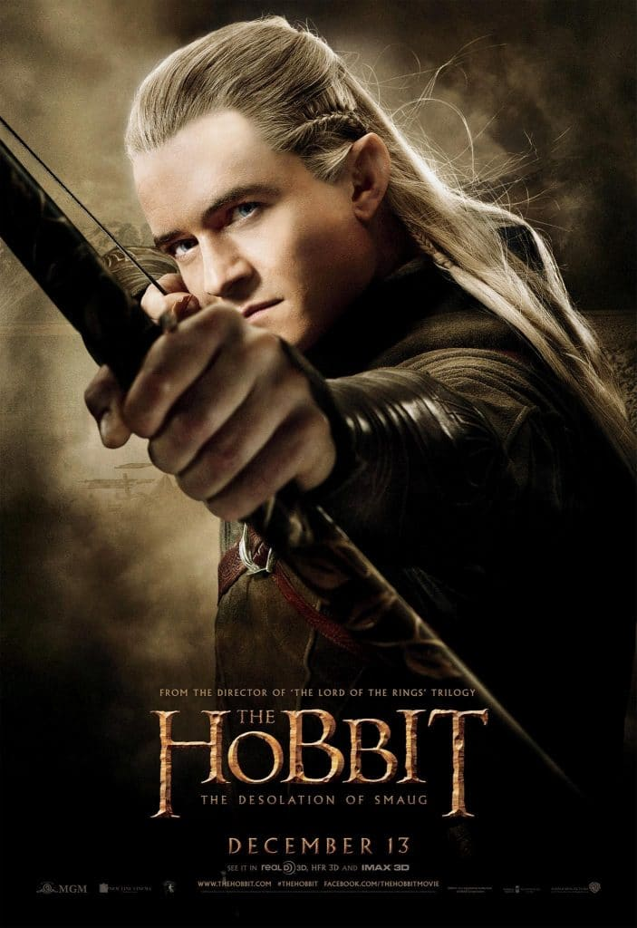 the hobbit the desolation of smaug 2013 high quality HD printable wallpapers poster elf legolas orlando bloom