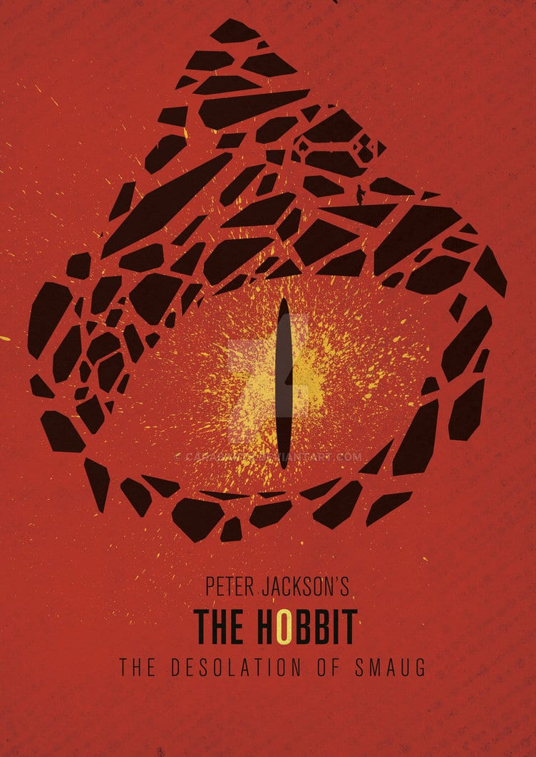 the hobbit the triology high quality HD printable wallpapers poster smaug eye red art animated cartoon