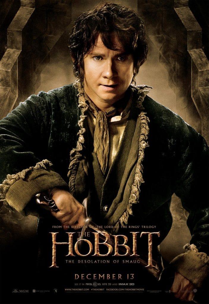 the hobbit the desolation of smaug 2013 high quality HD printable wallpapers poster bilbo baggins martiin freeman