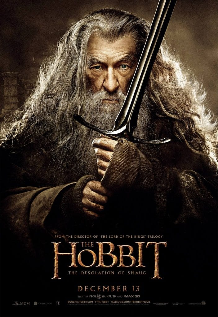 the hobbit the desolation of smaug 2013 high quality HD printable wallpapers poster gandalf sword cool