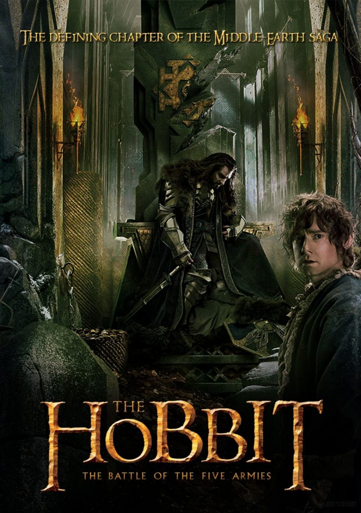 the hobbit the battle of five armies 2014 high quality HD printable wallpapers poster king thorin and bilbo baggins