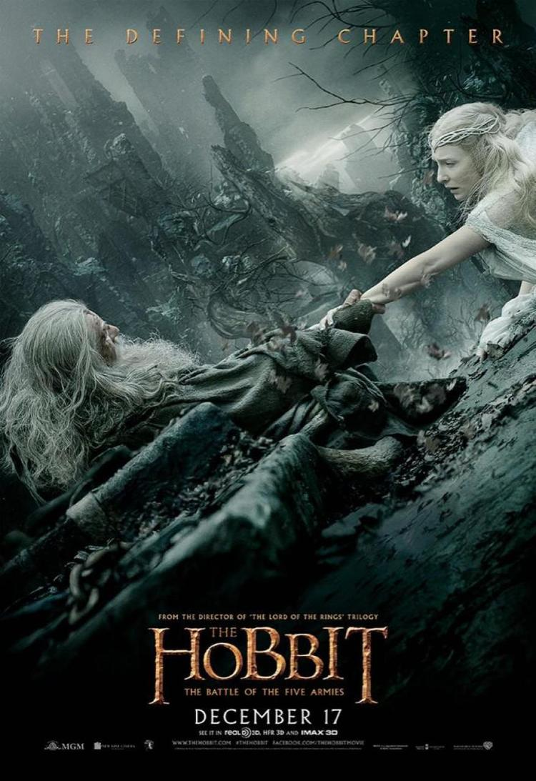 the hobbit the battle of five armies 2014 high quality HD printable wallpapers poster gandalf saving galadriel