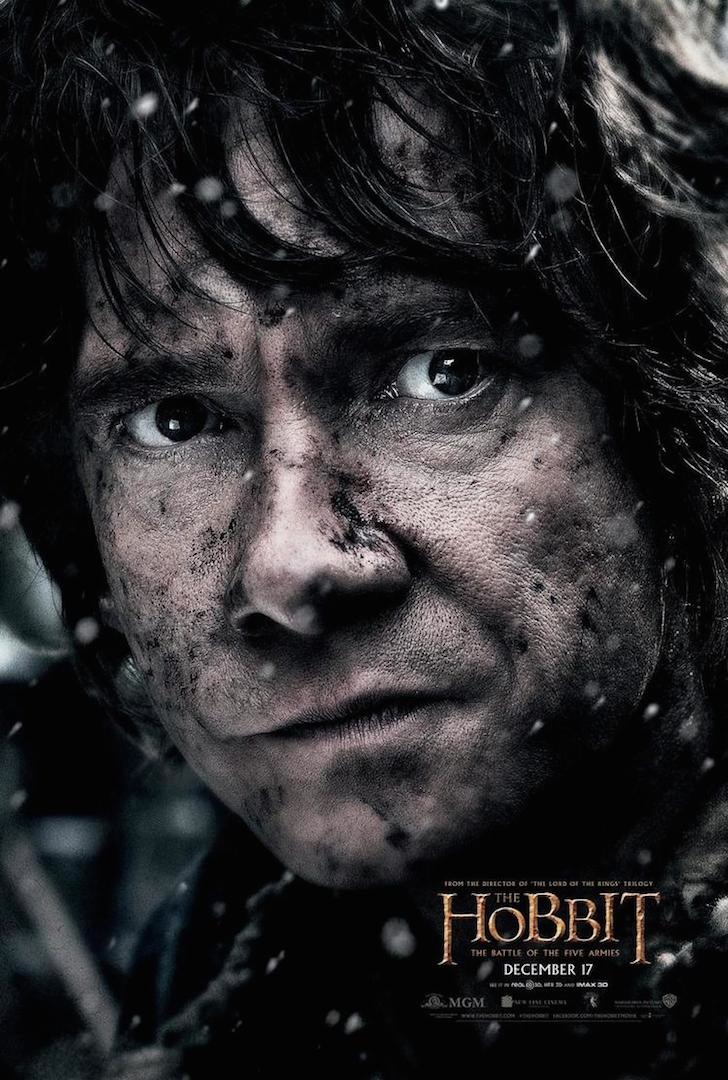 the hobbit the battle of five armies 2014 high quality HD printable wallpapers poster martin freeman closeup bilbo baggins