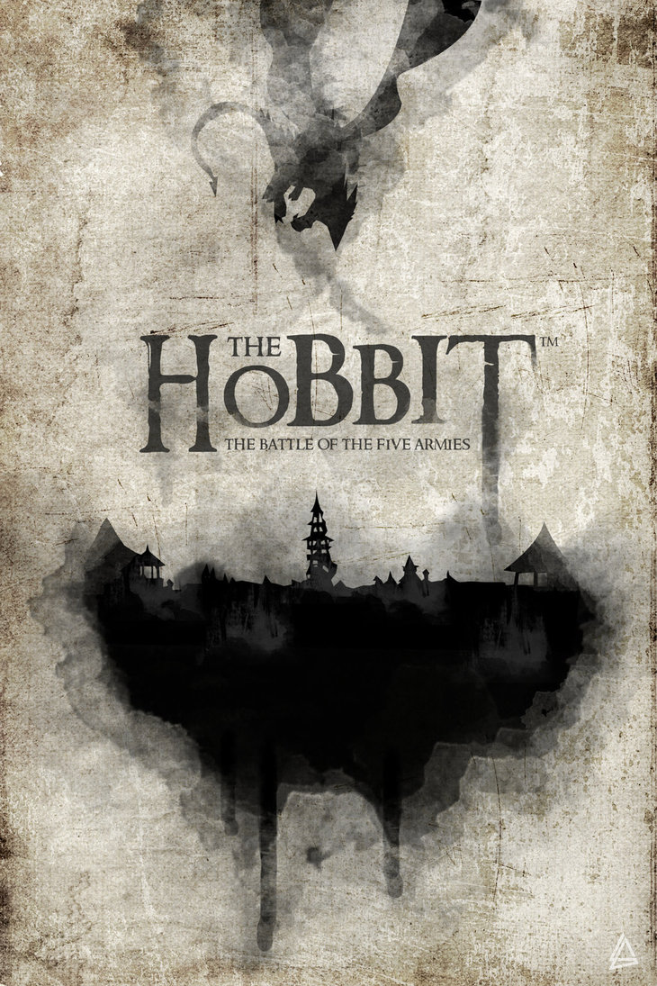 the hobbit the triology high quality HD printable wallpapers poster black and white poster