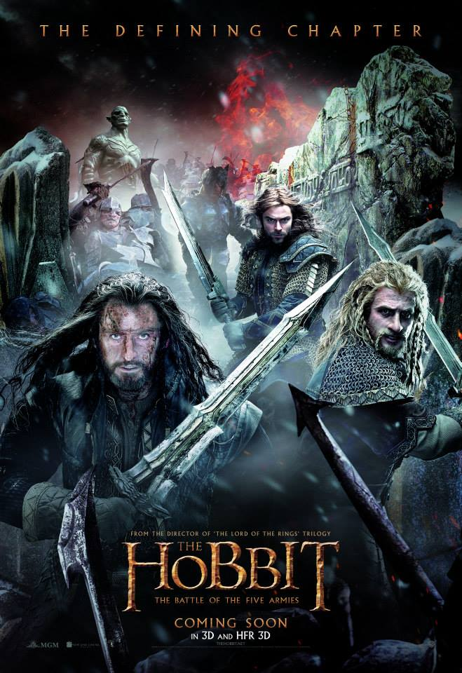 the hobbit the battle of five armies 2014 high quality HD printable wallpapers poster all characters official poster thorin
