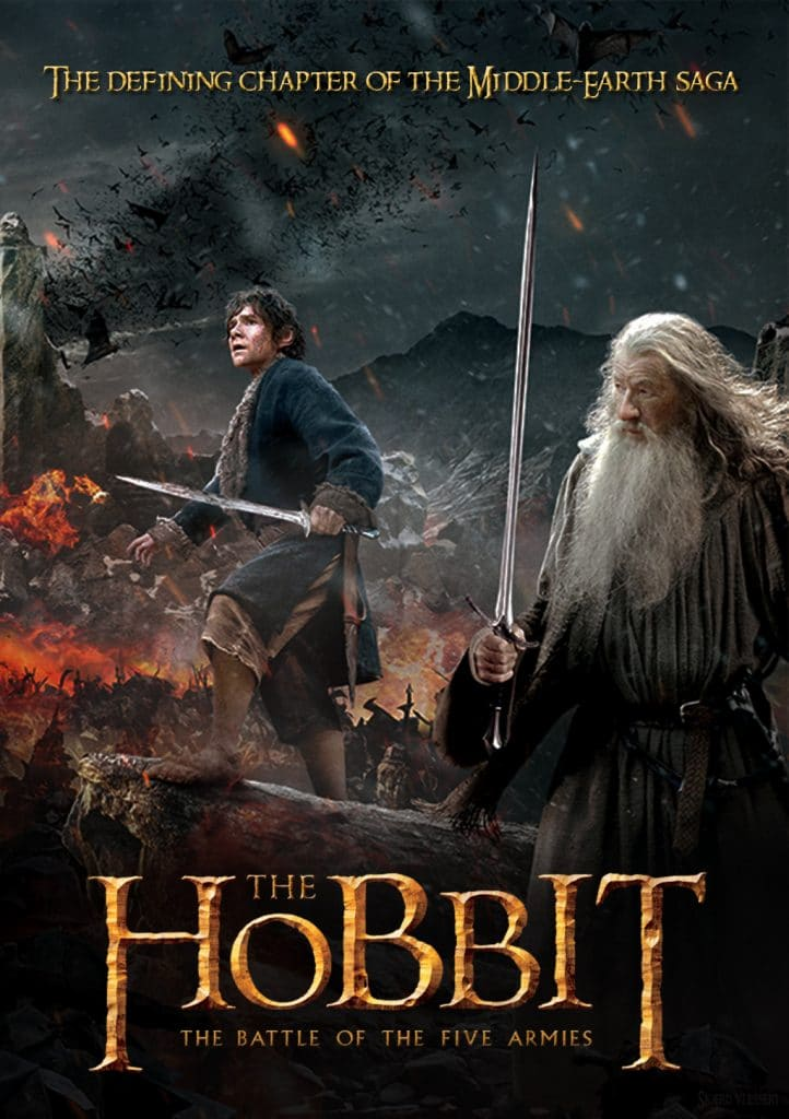 the hobbit the battle of five armies 2014 high quality HD printable wallpapers poster bilbo baggins with gandalf