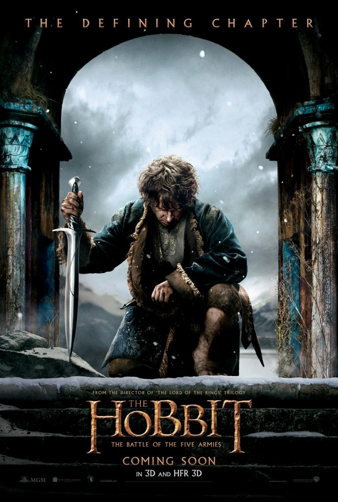 the hobbit the battle of five armies 2014 high quality HD printable wallpapers poster bilbo baggins war sword
