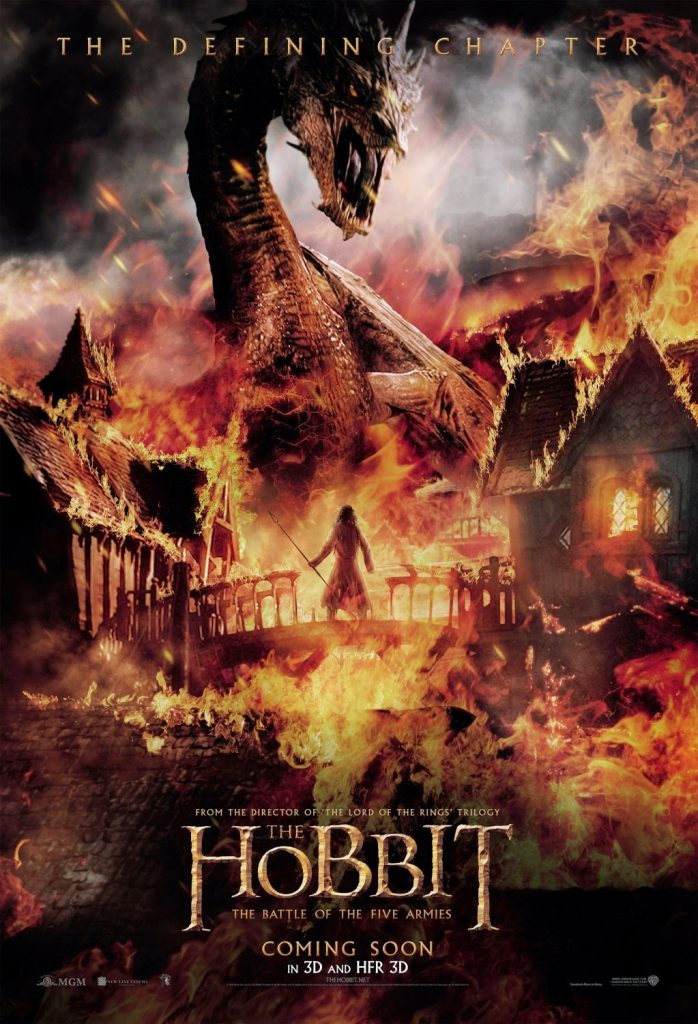 the hobbit the battle of five armies 2014 high quality HD printable wallpapers poster dragon smaug bard fire flames