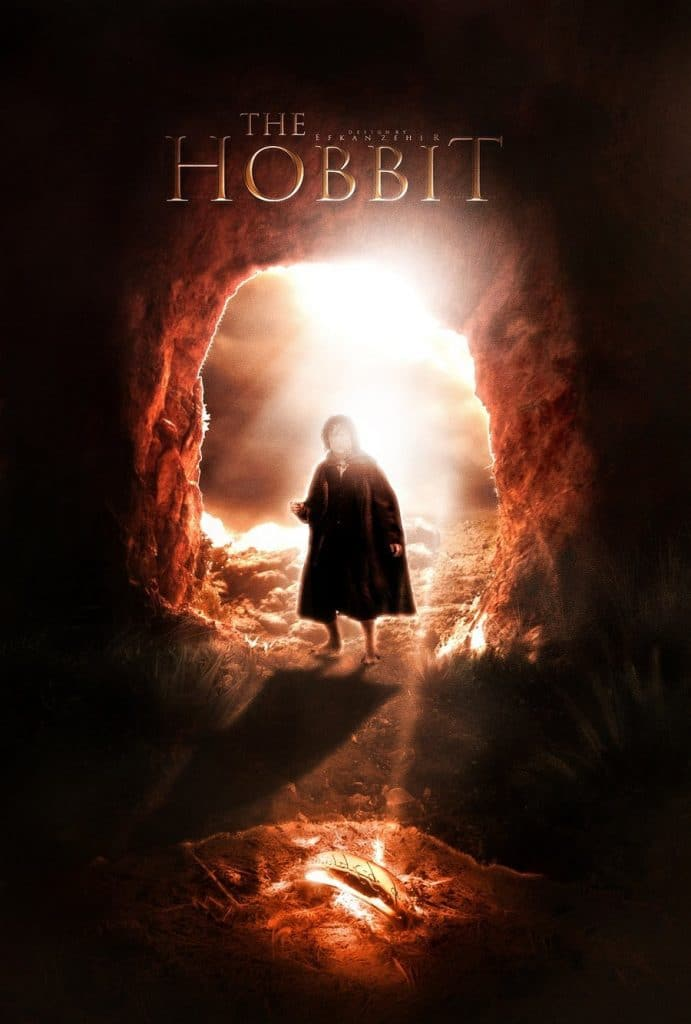 the hobbit the triology high quality HD printable wallpapers poster hobbit entering lonely mountain bilbo baggins