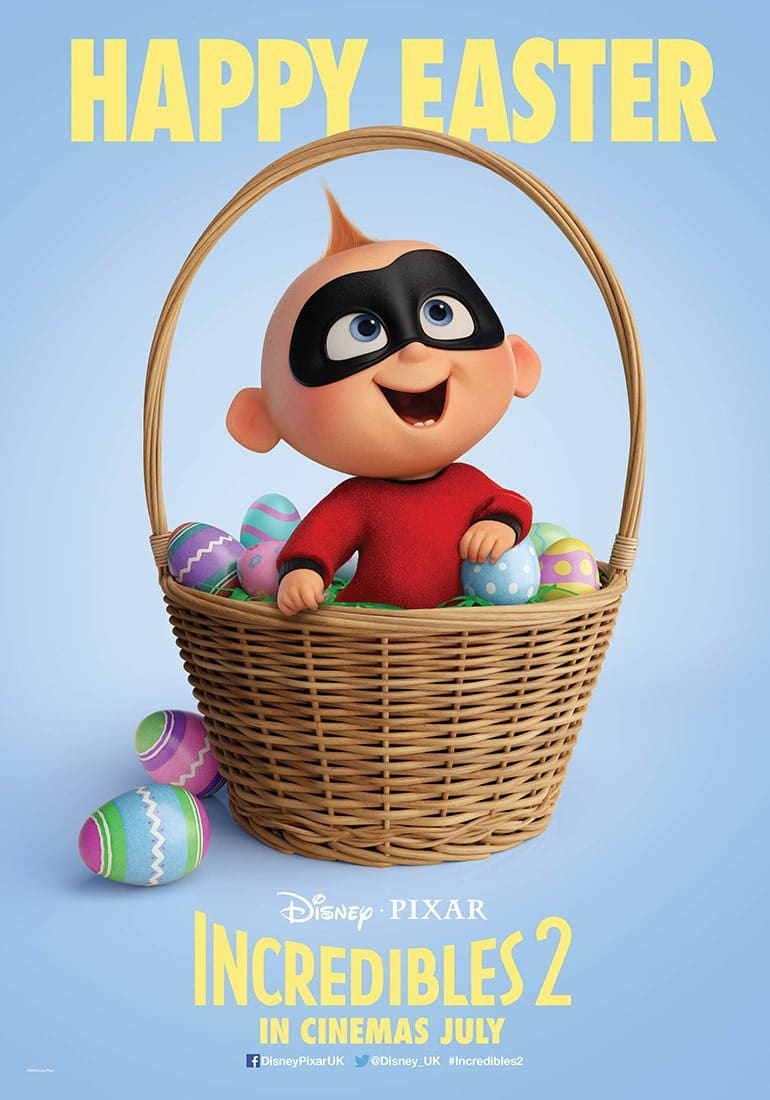 the incredibles 2 poster high quality HD printable wallpapers easter eggs jack jack in a basket
