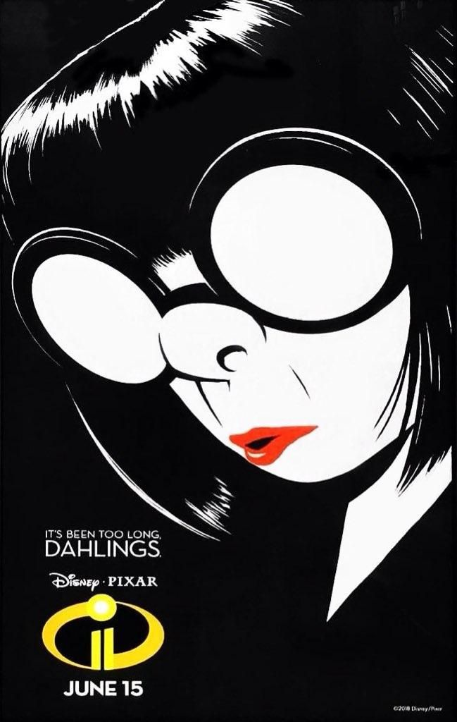 the incredibles 2 poster high quality HD printable wallpapers edna mode designer black and white poster
