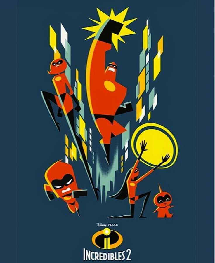 the incredibles 2 poster high quality HD printable wallpapers all characters in action full family