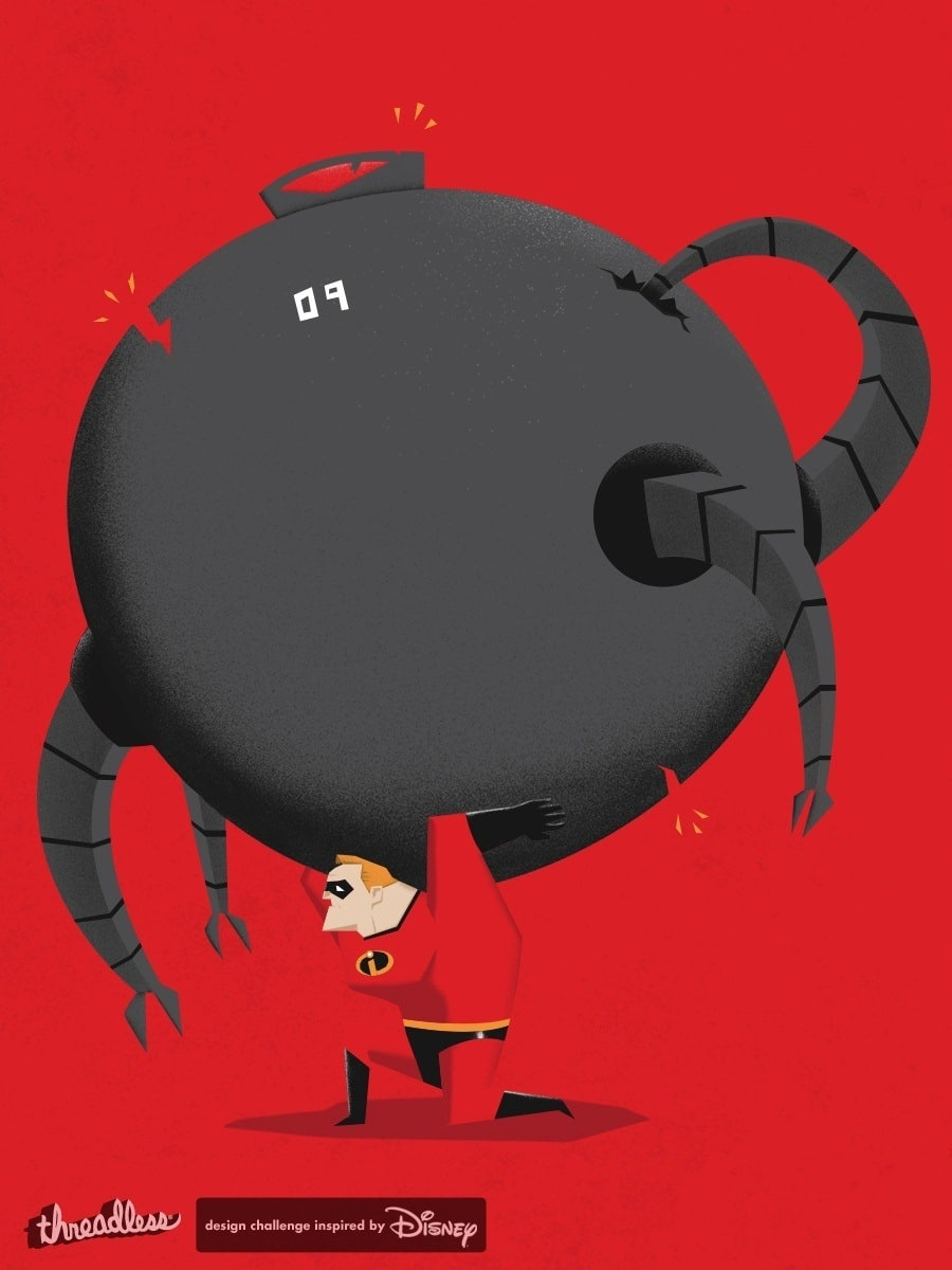 the incredibles poster high quality HD printable wallpapers bob fighting omnidroid