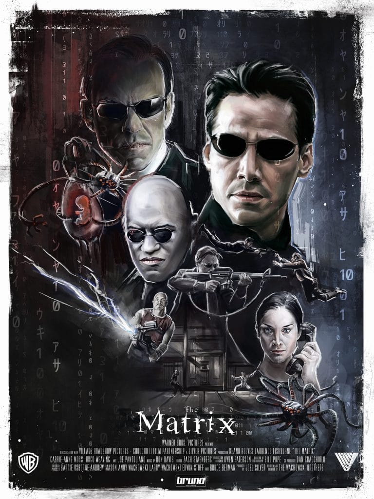 the matrix poster high quality HD printable wallpapers 1999 official poster all characters