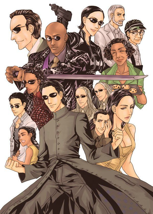 the matrix poster high quality HD printable wallpapers 1999 cartoon art poster