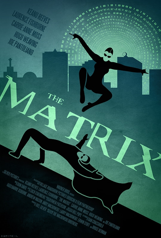 the matrix poster high quality HD printable wallpapers 1999 art cartoon main characetrs