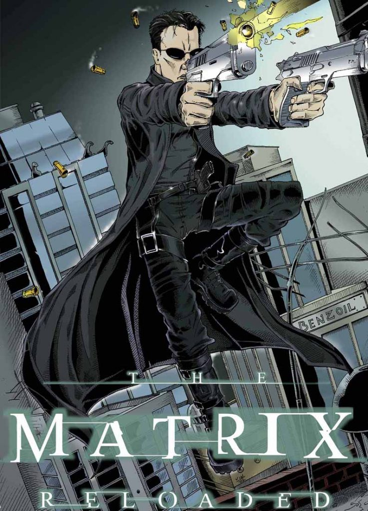 the matrix poster high quality HD printable wallpapers the matrix reloaded 2003 neo animated art cartoon comic style