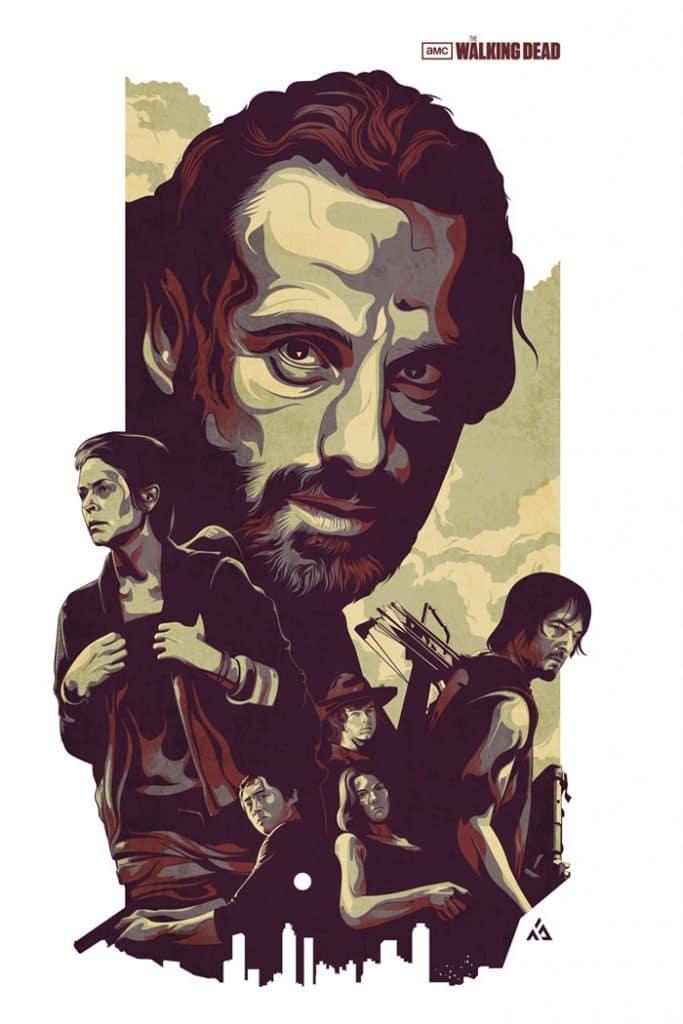 The Walking Dead Art Posters