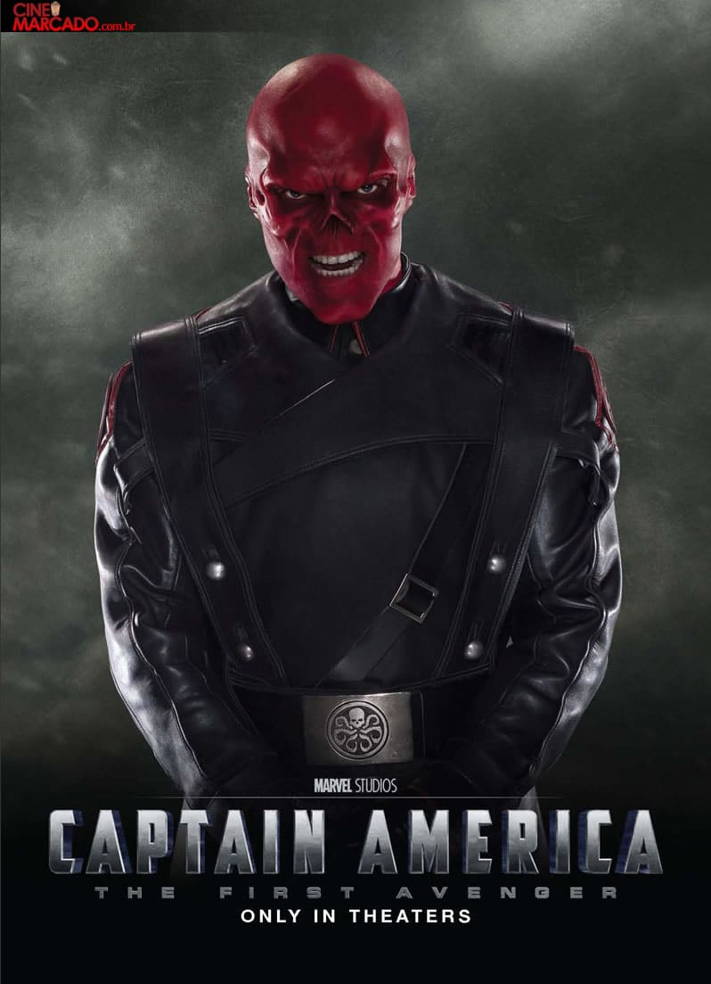 captain america poster high quality HD printable wallpapers 2011 the first avenger red skull