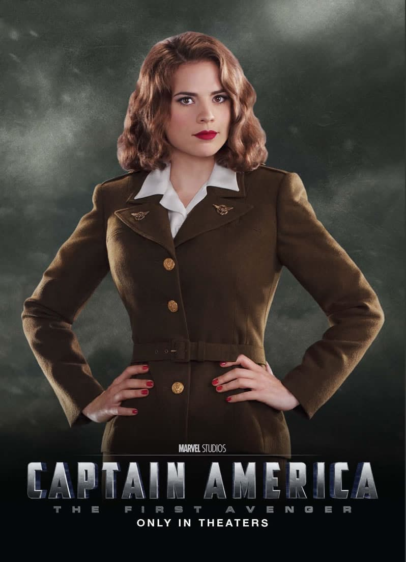 captain america poster high quality HD printable wallpapers 2011 the first avenger peggy carter main female lead