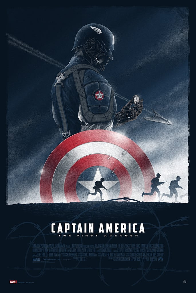 captain america poster high quality HD printable wallpapers 2011 the first avenger art cartoon animated commandos steve roger weak