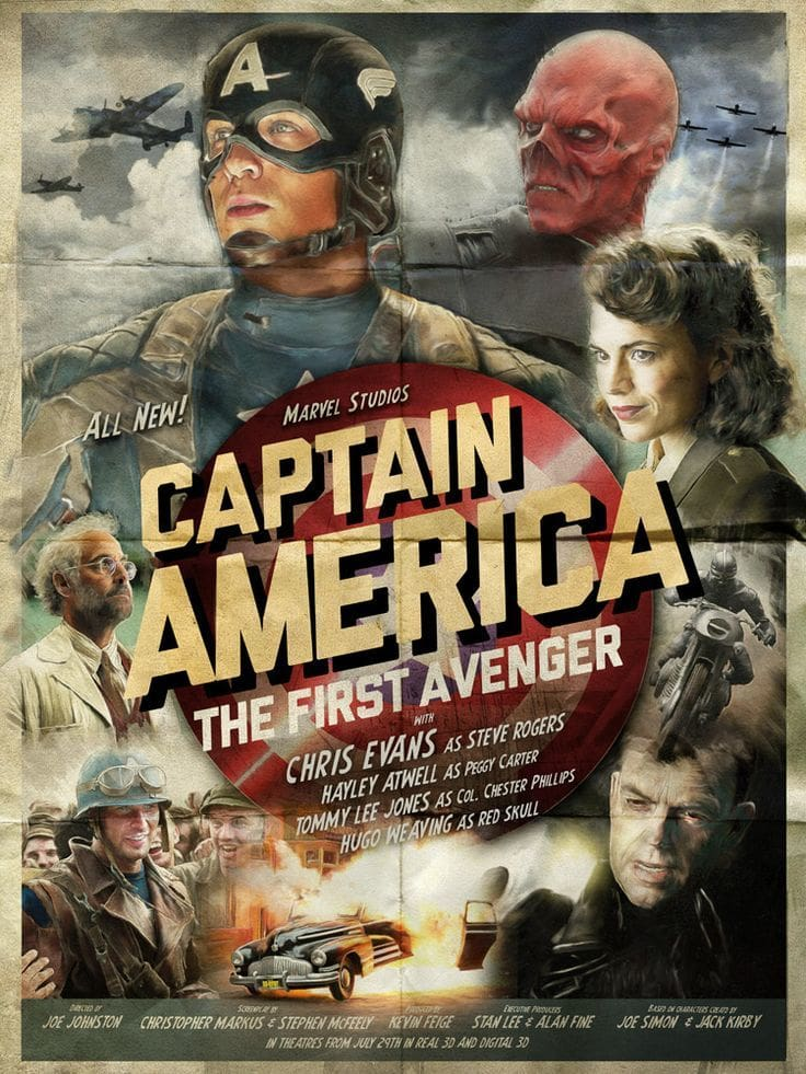 captain america poster high quality HD printable wallpapers 2011 the first avenger retro classic old style all characters