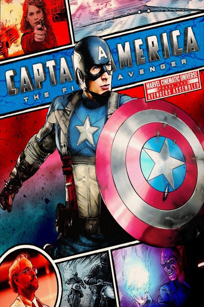 captain america poster high quality HD printable wallpapers 2011 the first avenger art cartoon animated comic look