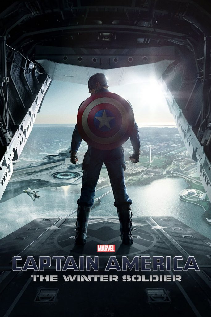 captain america poster high quality HD printable wallpapers 2014 the winter soldier sky diving without parachute scene
