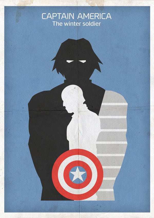 captain america poster high quality HD printable wallpapers 2014 the winter soldier art cartoon animated captain and bucky