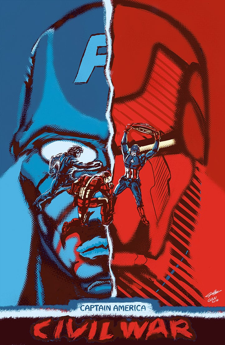 captain america poster high quality HD printable wallpapers 2016 civil war art animated cartoon half face heroes