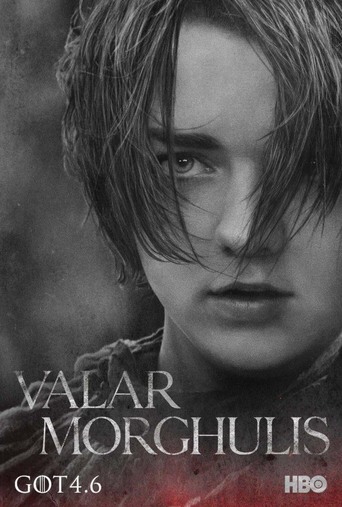 game of thrones poster high quality HD printable wallpapers season 4 arya valar morghulis