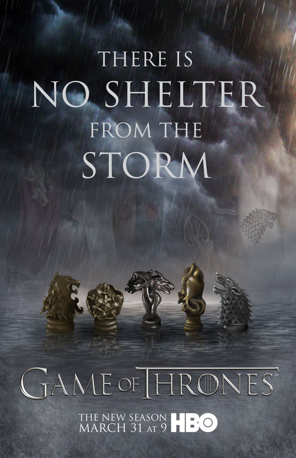 game of thrones poster high quality HD printable wallpapers season 4 no shelter form storm