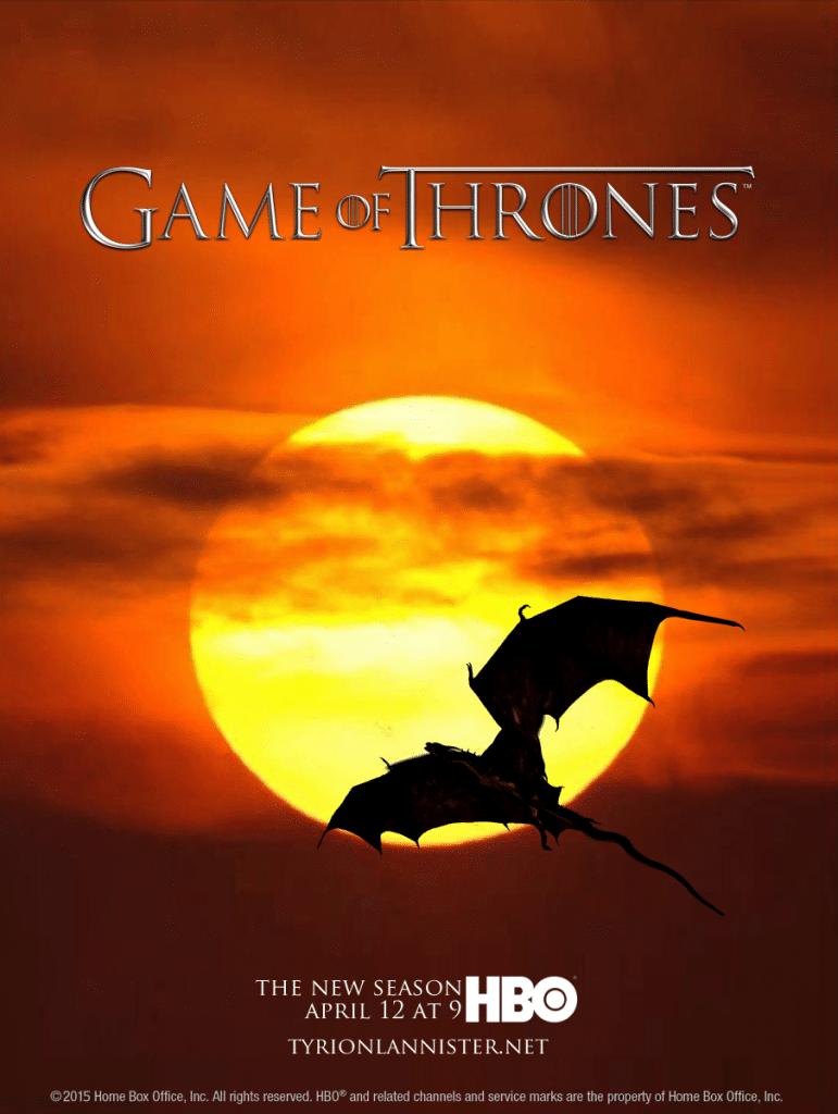 game of thrones poster high quality HD printable wallpapers season 5 dragon flying