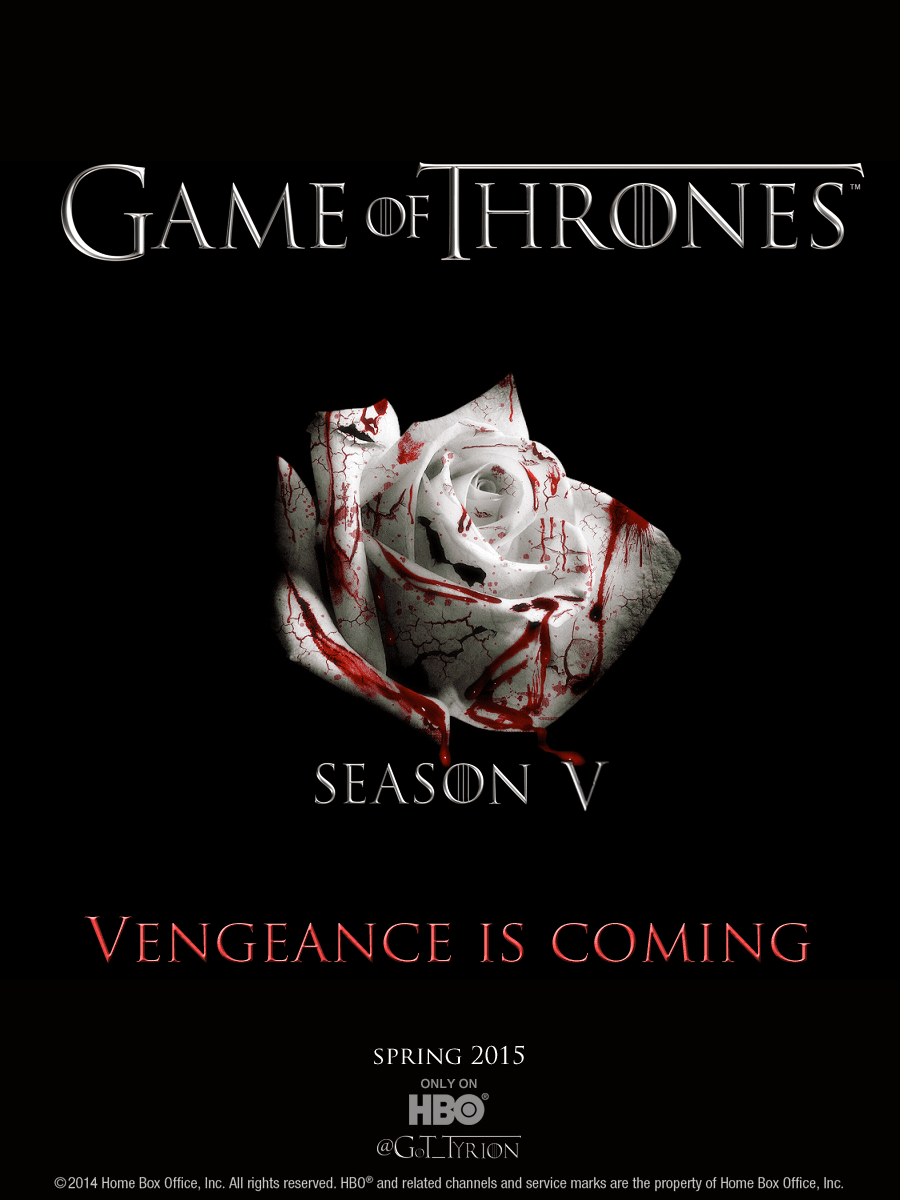 game of thrones poster high quality HD printable wallpapers season 5 blood rose
