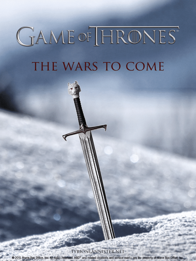 game of thrones poster high quality HD printable wallpapers season 4 the war to come sword in snow