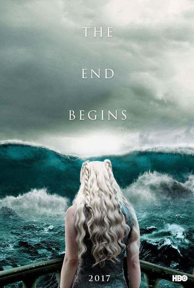 game of thrones poster high quality HD printable wallpapers season 7 daenerys in sea