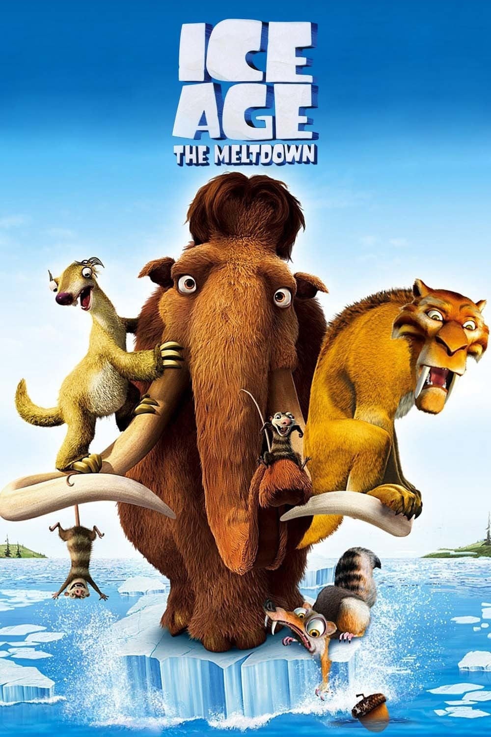 ice age poster part 2 2006 high quality HD printable wallpapers manny the meltdown all characters