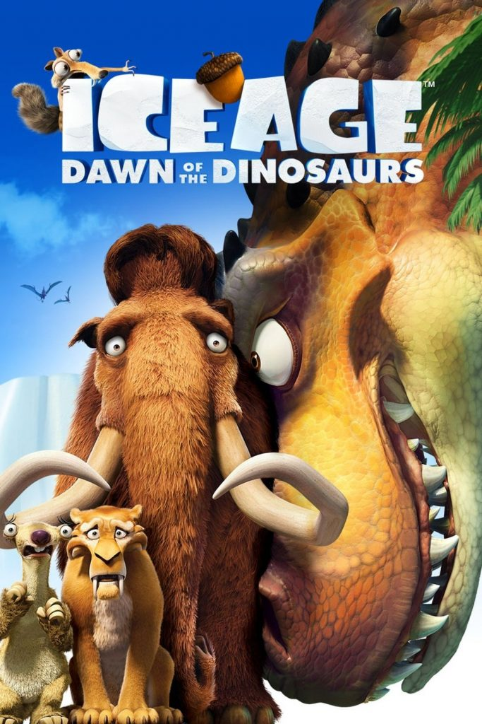 ice age poster part 3 2009 dawn of dinosuars high quality HD printable wallpapers manny diego sid and dinosuar