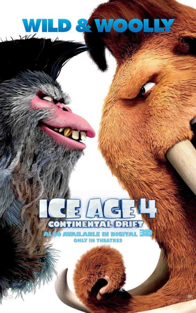 ice age poster part 3 2012 continental drift high quality HD printable wallpapers captain gutt vs manny
