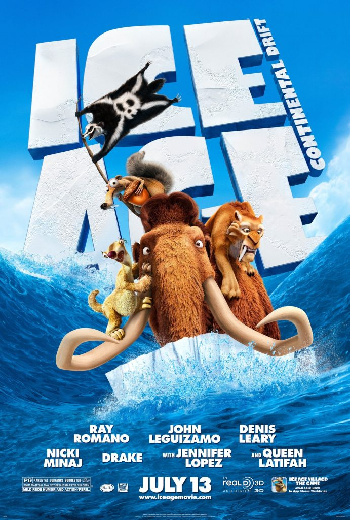 ice age poster part 3 2012 continental drift high quality HD printable wallpapers all characters on ice berg